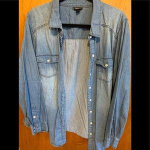 Torrid 2X Denim button up shirt